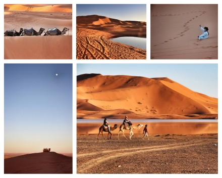 The Sahara Desert in Morocco.