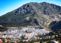 "29-Mar-2015: Chefchaouen, Morocco. Chefchaouen (""Shef-SHAH-wen"") is nestled in the foothills of the Rif Mountains, and is known as the ""Blue City."" Like many other Rif Mountain villages, Chefchaouen is relatively rural. It was initially inhabited by Rifi Berbers, who were joined by Andalusian Jews and Muslims after fleeing Spain beginning in the 15th century. It is such a uniquely cute little town. And, YES, almost everything is a shade of blue."