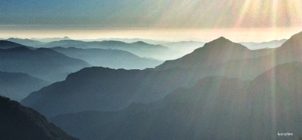 Eleven Ranges Viewpoint, Sequoia National Park, CA. Late afternoon sun. The prequel to the most AMAZING sunset...